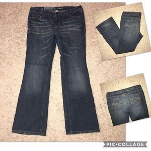 Mossimo Supply Co Bootcut Distress Jeans 13S